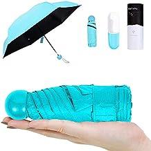 Paraguas De Cápsula,Mini Ultraligero Paraguas,Protección Solar Paraguas (99% UV Resistencia