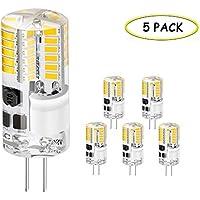 G4 LED Lampe, Jpodream® 3.5W 48X 3014SMD LED Leuchtmittel, 300LM, Ersatz für 35W Halogenlampen,12V AC/DC, 3000K Warmweiß, 360° Abstrahlwinkel LED Birnen - 5er Pack