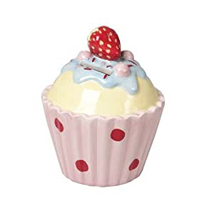 Ceramic Strawberry Cake Money Bank