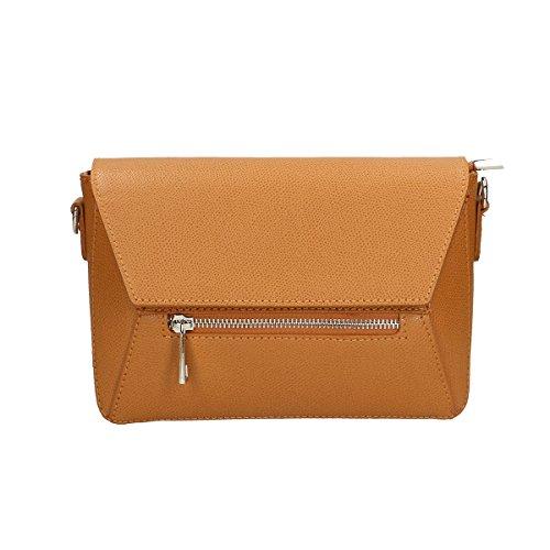 Chicca Borse Borsa a tracolla in pelle 23x16x8 100% Genuine Leather Cuoio