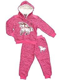 Girls Sequin Unicorn Horse Foil T-Shirt Top /& Jeggings Leggings Set 3-12 Years