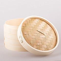 3piezas bambú Sordina 20cm pamai Pai® cocer al vapor bambú Steamer Sordina Vaporera Bamboo