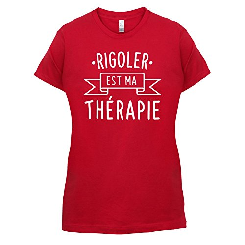 Rigoler est ma thérapie - Femme T-Shirt - 14 couleur Rouge