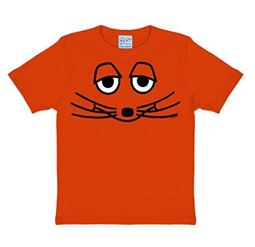 g mit der Maus - Die Maus Gesicht Kinder T-Shirt - orange - Lizenziertes Originaldesign Lizenziertes Originaldesign, Größe 170/176, 15-16 Jahre ()