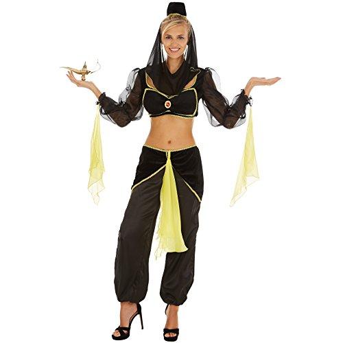 stüm Bauchtänzerin 1001 Nacht | Sexy, bauchfreies Oberteil | Bequeme Pump-Hose | Traumhafte Kopfbedeckung mit Schleier (M | Nr. 301001) (Flaschengeist Kostüm Für Mädchen)