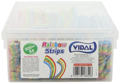 Vidal Rainbow Strips (Pack of 1, Total 200 Pieces)