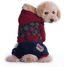 ZMMAEl otoño y el Invierno el enrasado y Engrosamiento Cap Pet Cuatro Patas Peluche Mascota pequeña