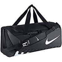 Nike Men's Alpha (Large) Training Duffel Bag, Color Black/Black/White, Talla MISC