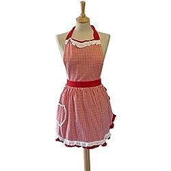 Sterck Heidi - Delantal, diseño de vestido vintage, multicolor