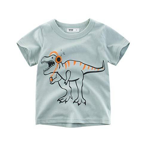 squarex Kinder Kinder Baby Mädchen Jungen Halbe Hülse Karikaturdruck T-Shirt T Tops Kleidung Komfortable ()
