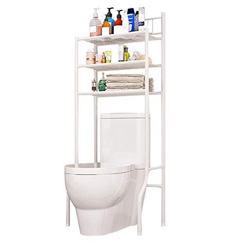 tingtin Regal Über Toilette - Toilettenregal, 3 Tier Metall Wasserdicht WC-Regal - Badezimmer WC Regal Organizer - Space Saver 61 x 37 x 151 cm