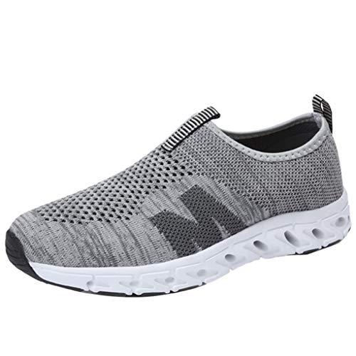 Herren Sportschuhe Atmungsaktiv Gym Turnschuhe Leichtgewicht Laufschuhe Lace up Freizeitschuhe Trainer Outdoor Sneaker Shoes