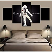 Obra de arte 5 Grupo lienzo impreso Michael Jackson cartel pintura decorativa moderna Modular Home Decor Wall Art fotos