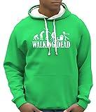 Walking dead - Zombie evolution - BICO Hoodie Sweatshirt mit Kapuze green-weiss Gr.M