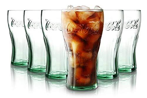 Tivoli Coca Cola Wassergläser - 330 ml - Set aus 6 - Hochwertige Gläser ? Spülmaschinenfest ? Kristallgläser