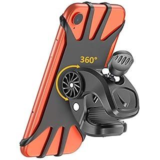 Handyhalterung Fahrrad, Cocoda 360° Drehbarer Handyhalter Motorrad, Universal Silikon Fahrrad Motorrad Lenkerhalterung für iPhone 11 Pro Max/Xr/Xs Max/X/8 Plus, Samsung S10 Plus/S10/S10e/Note 9/8 usw.
