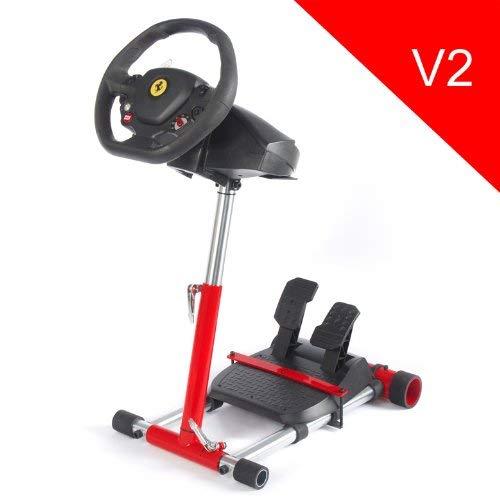 Wheel Stand Pro für Thrustmaster F458 SPIDER/ T80 /T100 /F458 /F430 Lenkräder – V2 ROSSO (NUR STÄNDER – LENKRAD NICHT INBEGRIFFEN)