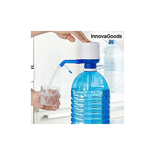 Foto de InnovaGoods Dispensador de Agua para Garrafas, Polipropileno, Blanco / Azul, 16.5x8x18 cm