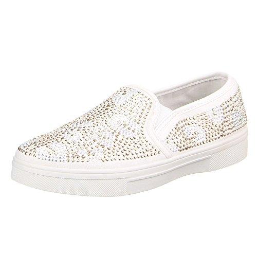 W-70, chaussures basses femme Blanc - Blanc