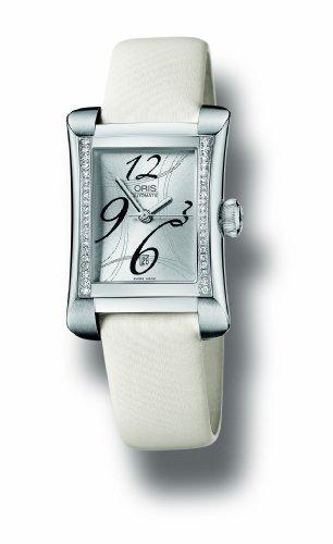 Oris Women's Diamond Satin Band Automatic Analog Watch 01 561 7621 4961-LS74