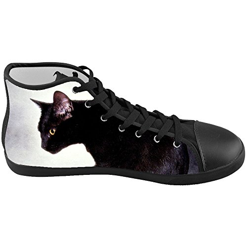 Dalliy s¨¹?e katze Men's Canvas shoes Schuhe Lace-up High-top Footwear Sneakers A