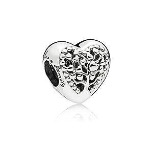 Pandora Damen Bead Charms 925 Flourishing Hearts Sterlingsilber 797058