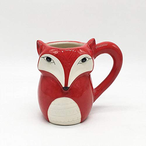(DORMFDU Becher Keramik Werbung TasseHeavyCeramicFox CupSonderform 3D Cartoon Keramik, Gules, 301-400Ml)