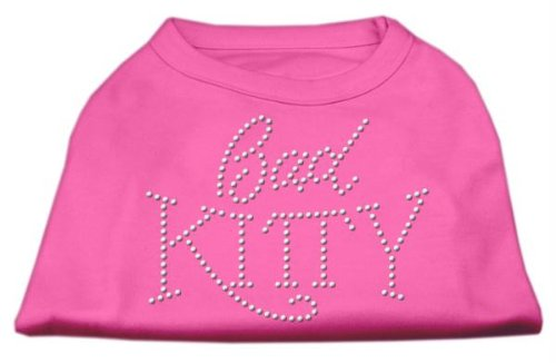 Mirage Pet Products 18 Bad Kitty Rhinestud Print Shirt für Haustiere, XXL, Bright Pink -