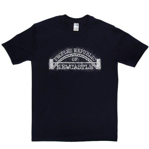 Peoples Republic Newcastle City Upon Tyne T-shirt Marineblau