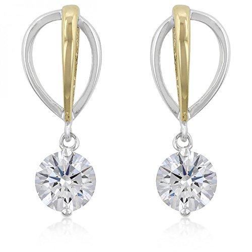 two-tone-finish-cubic-zirconia-drop-earrings