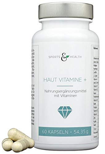 Reine Haut Vitamine Hochdosiert Als 2 Monatsvorrat Mit 19 Inhaltsstoffen Und Kollagen, Collagen