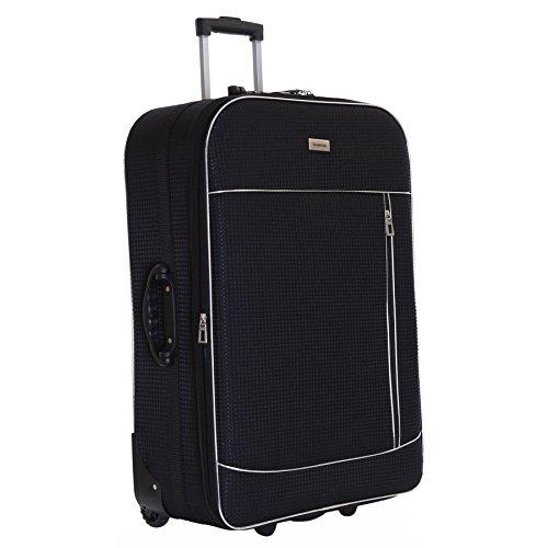 Slimbridge Rennes XL 77 cm valigia espandibile con 3 anni di garanzia, Nero