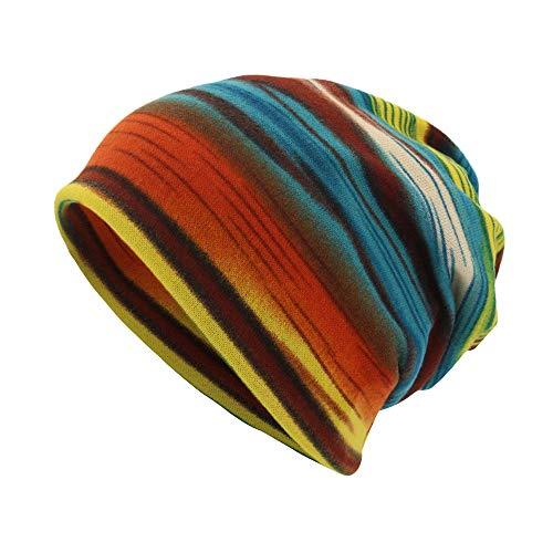 Zottom Unisex Stripe Print Schal Beanie Cap Casaul Outdoor Cabrio Winddichte - Thor Paare Kostüm