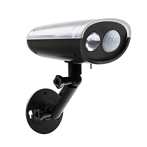 Solar LED Strahler mit Bewegungsmelder, 250Lumen Wireless Bright Outdoor LED-Leuchte für Hof, Garten, Haus, Auffahrt, Treppen, außen Wand cis-57590 (Bewegung Aktiviert Kamera Outdoor)