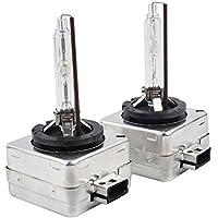 taitian paio 35W D1S Xenon HID lampadine di ricambio in metallo Stent Base lampade fari auto 12V 6000K Bianco Brillante