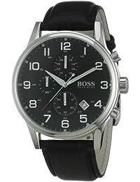 Hugo Boss Herren-Armbanduhr Analog Quarz Leder 1512448