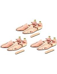 3 Paar Schuhspanner aus Zedernholz ( für Herren und Damen ) inkl. Reiseschuhlöffel aus Zedernholz, Langer & Messmer, Größe 34 bis 50, das Original!
