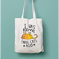 I Was Normal Three Cats Ago Shopping Tote Bag