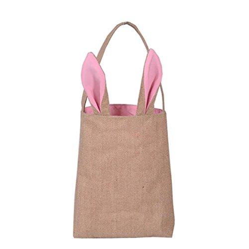 Tasche Ostern Hase Ohren Tasche Tote Handtasche Wristlets Clutches Tasche Armbänder Geldbörse, Handytasche Geldbörse Geldbörse Wristlet Geldbörse Kupplung (Pink) ()