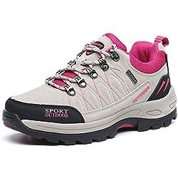 Zapatillas de Senderismo de Montaña para Hombre Zapatillas de Trekking Unisex Botas de Montaña Antideslizantes AL Aire Libre Sneakers