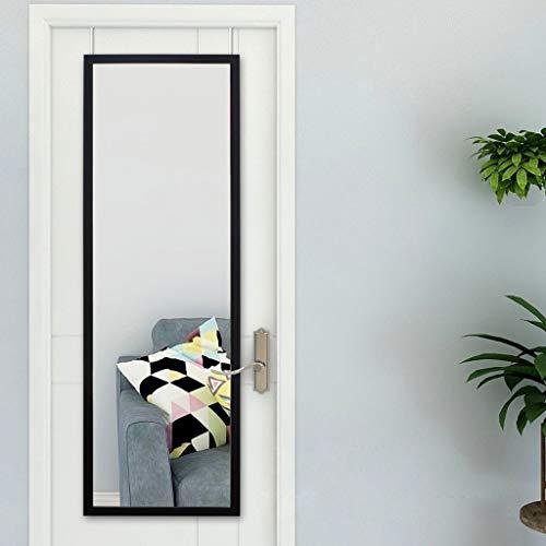 LEI ZE JUN UK- ABS-Rahmen Ganzkörperspiegel Modernes Zuhause benötigt Keine Lochung Installation Schwarzer Türspiegel 50x150cm (Farbe : SCHWARZ, größe : 50x150cm)