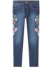 Promod Slim Fit Jeans mit Stickerei