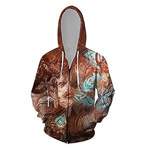 3D Print Hoodies Herren 3D Printed Zipper Jacke Langarm Kapuzenmantel Lustige Herren Anzüge Sale Hoodie Bluse Tops