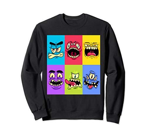 Lustiges Monster Halloween Kostüm für Schulkinder Zyklopen Sweatshirt