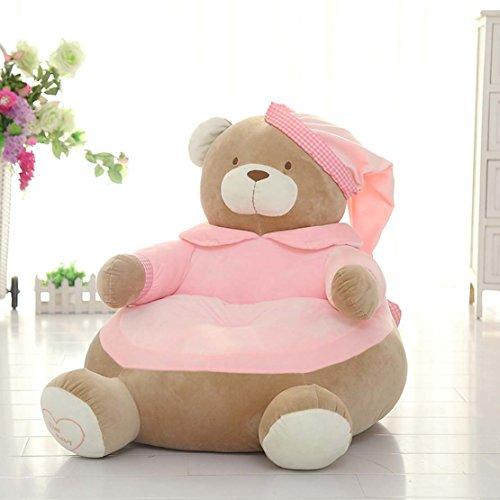 Preisvergleich Produktbild MAXYOYO Creative Schlafanzüge Bär mit Gap Weich Gefüllt PP Baumwolle Plüsch Spielzeug Sitzsack, Big Bear Sofa Sitz für Kinder, Tolles Geschenk für Kinder Pink Bear