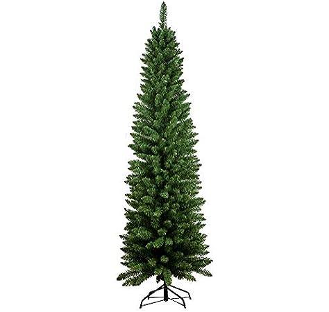 Flower Fantasy Albero di Natale 120CM Abete Slim Deluxe PENICEL FOLTO Ecologico PVC 198 RAMETTI