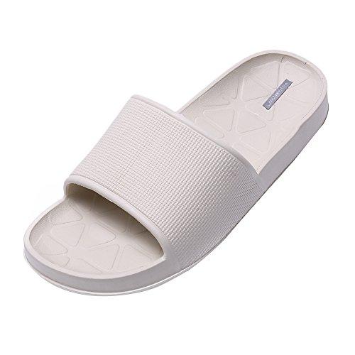 WILLIAM&KATEU Pantofole coppia unisex Pattini antisdrucciolevoli casuali estivi Pantofola per vasca da bagno coperta da pavimento cachi