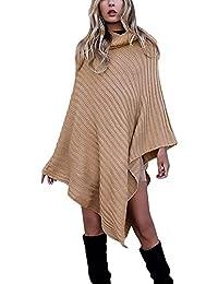 Pullover Punto Mujer Otoño Invierno Poncho Elegantes Moda Joven Bastante Casual Talla Grande Chaqueta De Punto