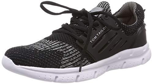 TOM TAILOR Jungen 6971601 Sneaker, Mehrfarbig (Black-Grey 00088), 34 EU (Tom Tom-schuhe Für Kinder)