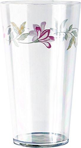 Corelle Coordinates Pink Trio 19-Ounce Acrylic Glass, Set of 6 by CORELLE Corelle Pink Trio